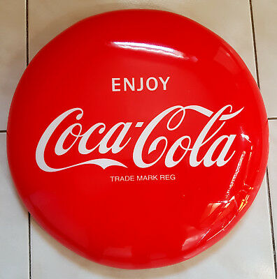 Coca-Cola Stool seat, padded chair cushion, brand new
