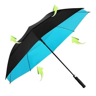 62 Inch Golf Umbrella Windproof Large Oversize Double Canopy Vented Automatic Nb