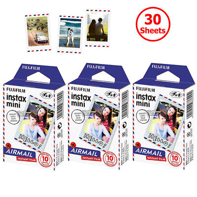 For Fujifilm Instax Mini 8 9 Instant Camera 30 Sheets AirMail Frame Film Picture