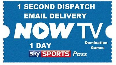 NOW T.V Sky Sports Day Pass, Instant Delivery (Read Description Please)
