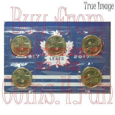 1917-2017 - 100th Anniversary Toronto Maple Leafs - $1 Dollar Loonie 5-Coin Pack