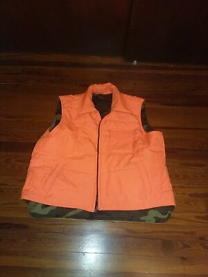 NORTHWEST TERRITORY Insulated Hunting Vest Reversible CAMO/ORANGE - Men -XL