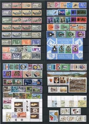 Ascension Mixed GV - QEII mostly Mint Sets, Part sets etc. Cat in region of £235