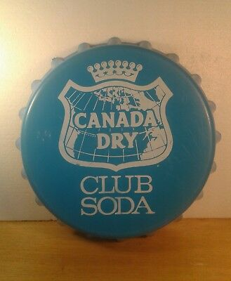 Vintage Canada Dry Club Soda Bottle Cap Advertising Sign