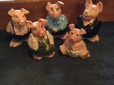 Wade Natwest Pigs Full Collection   Mint Condition Original Stoppers