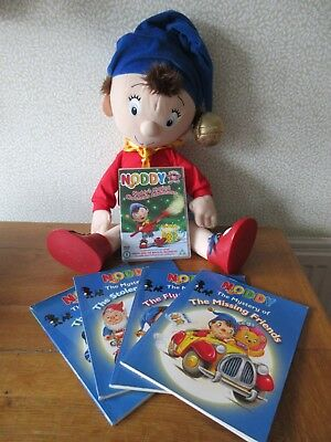 Noddy bundle, large soft toy, Christmas DVD and 5 books