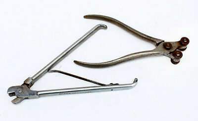 Early typewriter type bar adjusting tools