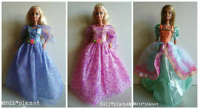 SALE - wow! 3 OOAK BARBIE DOLLS w/ New Gowns Custom Lot Jewelry Sets and Shoes
