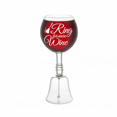 Ring Bell For More Wine Glass - Brand New