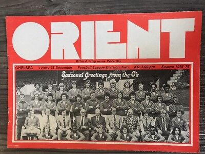 Orient Football Programme 1975. Orient V Chelsea Football Program. Rare!