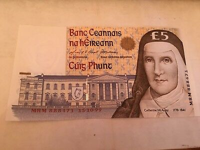 £5 NOTE FROM CENTRAL BANK OF IRELAND - ISSUED 1996 - UNUSED No mrm 888171 151099