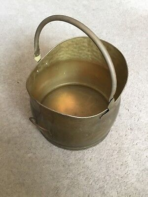 Copper (beaten) Coal Scuttle, log basket  or Champagne Bucket