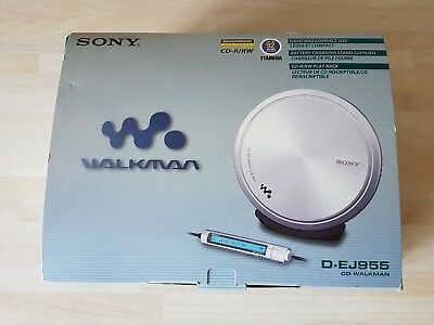 Sony Cd Walkman D-Ej955 Personal Discman Complete With Box, Charger Etc