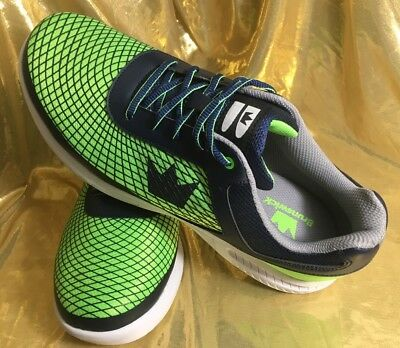 BRUNSWICK FRENZY Navy/Green Mens Bowling Shoes, US Size 11 NEW!!