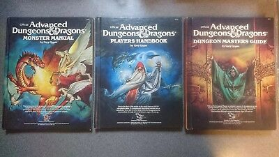 Advanced Dungeons and Dragons Dungeon Master's Players Handbook Monster Manual