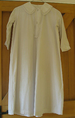 Vintage Edwardian/Victorian White Cotton Nightdress with Lace Trim