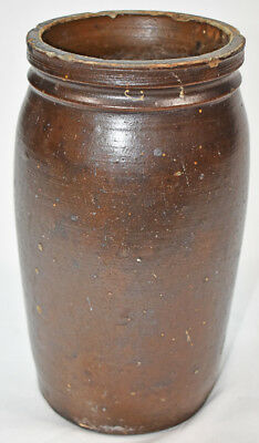 "Dark Brown Matt Finish Crock - 10.5"" high"