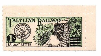 Talyllyn Railway 1s (one shilling) Railway Letter Stamp MNH