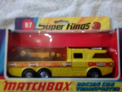 matchbox superkings k7 racing car transporter team matchbox
