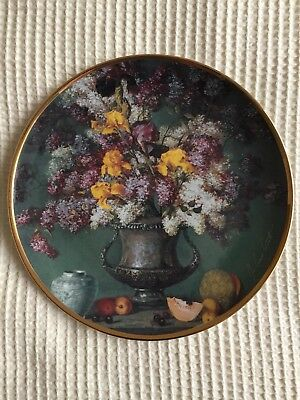 Franklin Mint Heirloom Recommendation Collection Plate Limited