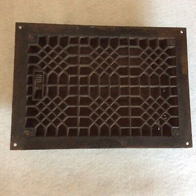 Vintage Cast Iron Antique Style Heat Register Grate Grill 8 x 12