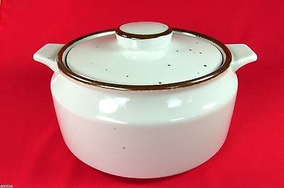 Trend Pacific Earthstone Rust Brown Round Covered Casserole 1.5 Qt Lug Handles
