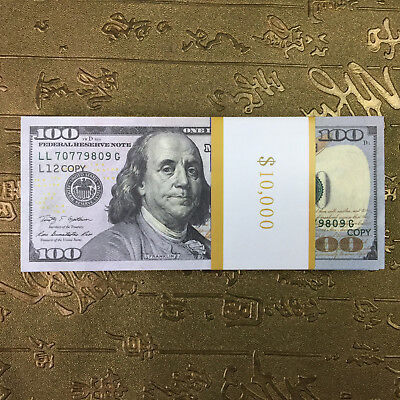 Most Widely Video Special Props Money 100$ Dollar 100 Pcs Double Sided Printing