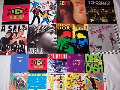 "Joblot Of Hip Hop / Rap / Gangster / Eletronic Etc Albums 12"" & 7"" Singles"