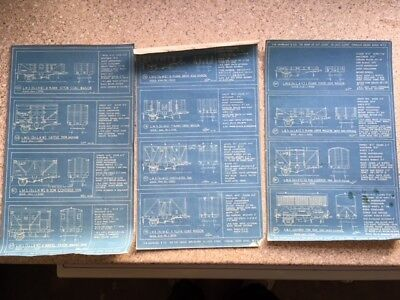12 LMS  wagon and van plans on 3 sheets (Hamblings) 4 mm scale
