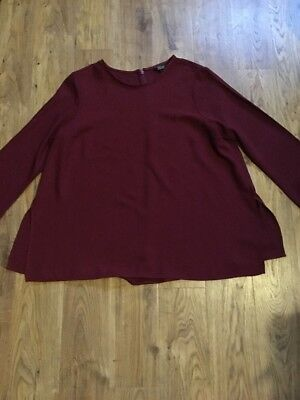 Burgundy Maternity Top From Topshop Size 12 Smart Work Versatile