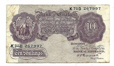Bank of England (P366a) 10 Shillings 1940 Peppiatt