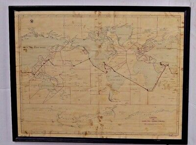 "Vintage Hydrographic US Navy Map ""Limits of Sailing Directions"" (USSR Era)"