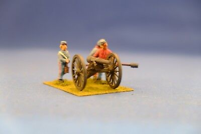 Nicely Painted 28mm Union Artillery.  Mounted.