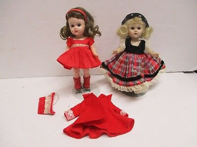 Vintage Vogue Ginny Dolls Molded Lashes Tagged Outfits Roller Skater Plus One