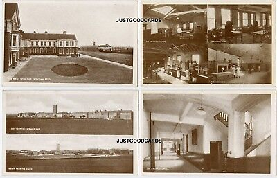 Basingstoke, Hampshire - War / Mental Hospital - 4 Cards