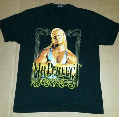 """Official WWE T/Shirt """"Mr. Perfect """"  WRESTLING Size large"""