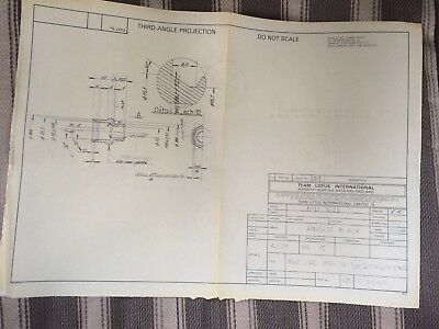 Team Lotus Gearbox Blueprint 1985 Possibly driven by Ayrton Senna.