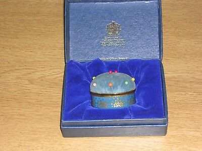 Boxed Halcyon Days Enamelled Pin Cushion