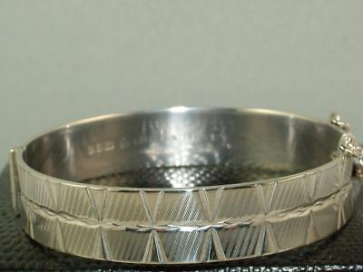1976 Solid Silver Bangle Bracelet Sterling Full Hallmarks Great Condition