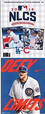 2016 Nlcs Game Program Chicago Cubs Vs Los Angeles Dodgers National League 2017