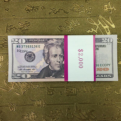 $20 Dollar 100 Pcs Movie special props double-sided printing Play Fake Money PO