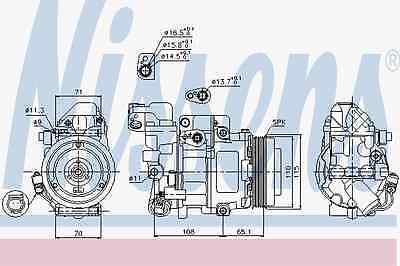 Compressor Air Conditioning Mercedes-Benz - Nissens 89051