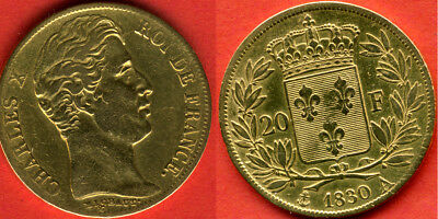 20 FRANCS OR Charles X 1830 A