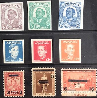 Japanese Occupied Philippines 1943-1945 issues MLH