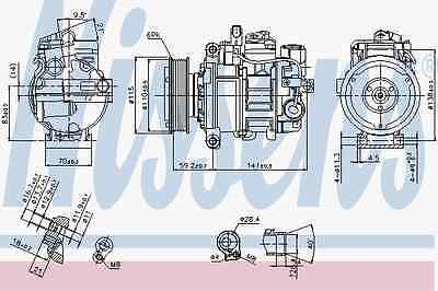 Compressor Air Conditioning Audi - Nissens 89384