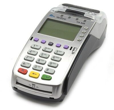 VeriFone VX520 Dual Comm Payment Terminal Smart Card Reader, Refurbished