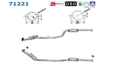 Catalytic Converter - AS S.L.71221 ( incl. Deposit)