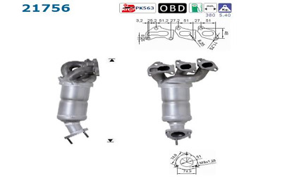 Catalytic Converter - AS S.L.21756 ( incl. Deposit)