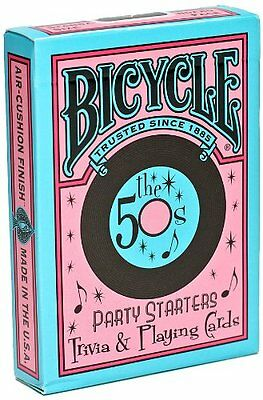50s BICYCLE PARTY STARTERS TRIVIA & PLAYING CARDS.NEW SEALED. USPCC.
