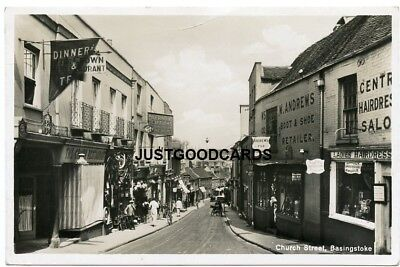 BASINGSTOKE, HAMPSHIRE - STREET SCENE No. 14 - REAL PHOTO